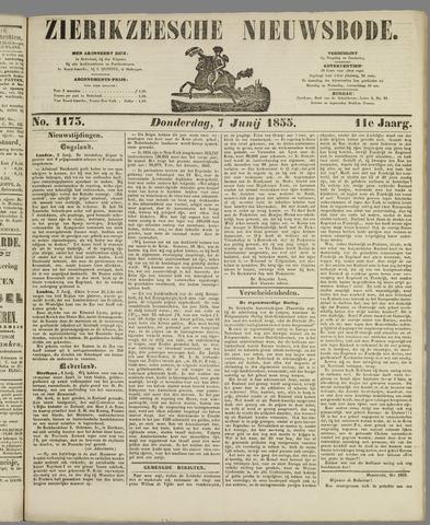 Zierikzeesche Nieuwsbode 1855-06-07