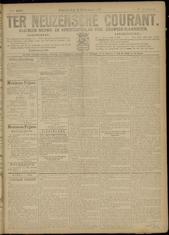 Ter Neuzensche Courant. Algemeen Nieuws- en Advertentieblad voor Zeeuwsch-Vlaanderen / Neuzensche Courant ... (idem) / (Algemeen) nieuws en advertentieblad voor Zeeuwsch-Vlaanderen 1917-02-08