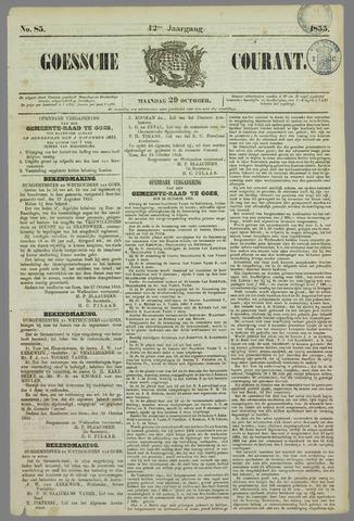 Goessche Courant 1855-10-29