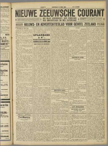 Nieuwe Zeeuwsche Courant 1929-04-25