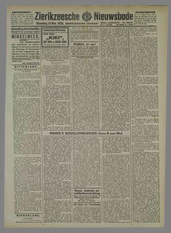Zierikzeesche Nieuwsbode 1933-11-13