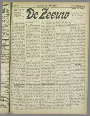 De Zeeuw. Christelijk-historisch nieuwsblad voor Zeeland 1921-07-12