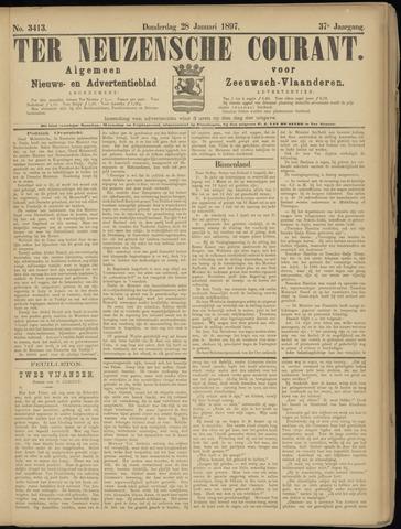 Ter Neuzensche Courant. Algemeen Nieuws- en Advertentieblad voor Zeeuwsch-Vlaanderen / Neuzensche Courant ... (idem) / (Algemeen) nieuws en advertentieblad voor Zeeuwsch-Vlaanderen 1897-01-28