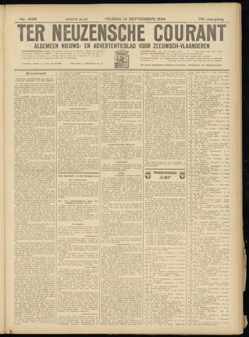 Ter Neuzensche Courant. Algemeen Nieuws- en Advertentieblad voor Zeeuwsch-Vlaanderen / Neuzensche Courant ... (idem) / (Algemeen) nieuws en advertentieblad voor Zeeuwsch-Vlaanderen 1934-09-14