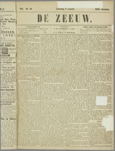 De Zeeuw. Christelijk-historisch nieuwsblad voor Zeeland 1891-01-17