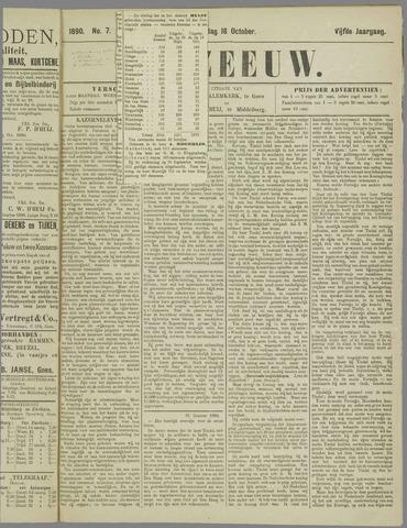 De Zeeuw. Christelijk-historisch nieuwsblad voor Zeeland 1890-10-16