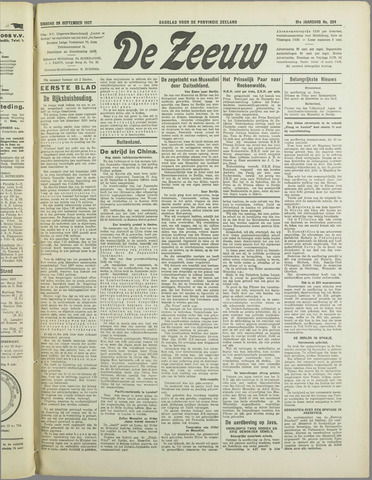 De Zeeuw. Christelijk-historisch nieuwsblad voor Zeeland 1937-09-28