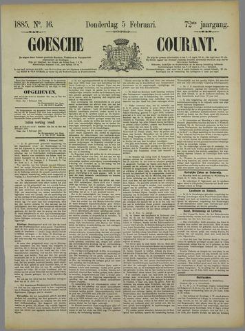 Goessche Courant 1885-02-05