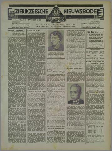 Zierikzeesche Nieuwsbode 1940-11-04