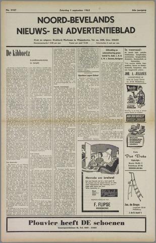 Noord-Bevelands Nieuws- en advertentieblad 1962-09-01