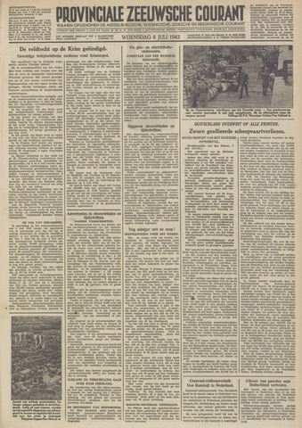 Provinciale Zeeuwse Courant 1942-07-08