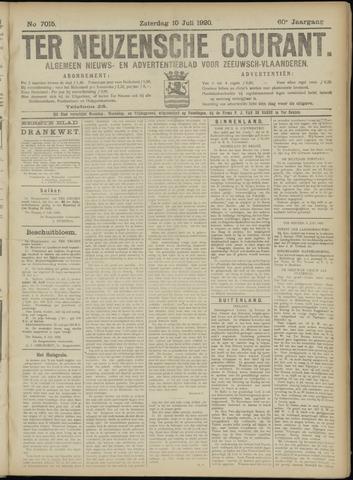 Ter Neuzensche Courant. Algemeen Nieuws- en Advertentieblad voor Zeeuwsch-Vlaanderen / Neuzensche Courant ... (idem) / (Algemeen) nieuws en advertentieblad voor Zeeuwsch-Vlaanderen 1920-07-10