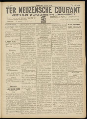 Ter Neuzensche Courant. Algemeen Nieuws- en Advertentieblad voor Zeeuwsch-Vlaanderen / Neuzensche Courant ... (idem) / (Algemeen) nieuws en advertentieblad voor Zeeuwsch-Vlaanderen 1938-07-11