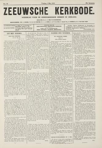Zeeuwsche kerkbode, weekblad gewijd aan de belangen der gereformeerde kerken/ Zeeuwsch kerkblad 1935-05-03