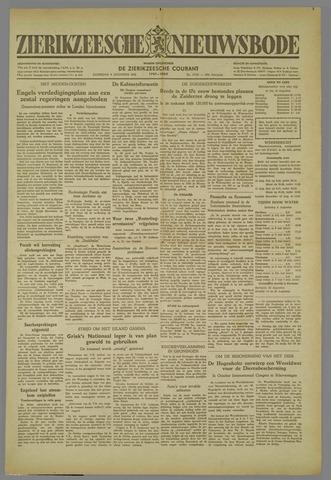 Zierikzeesche Nieuwsbode 1952-08-09