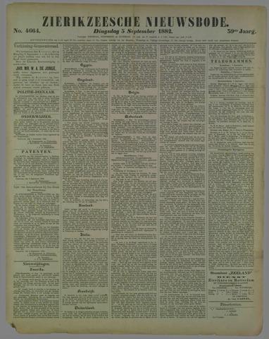 Zierikzeesche Nieuwsbode 1882-09-05