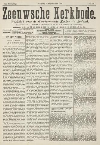Zeeuwsche kerkbode, weekblad gewijd aan de belangen der gereformeerde kerken/ Zeeuwsch kerkblad 1918-09-06