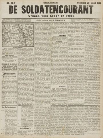 De Soldatencourant. Orgaan voor Leger en Vloot 1916-03-29