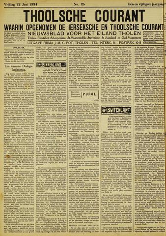 Ierseksche en Thoolsche Courant 1934-06-22