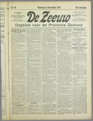 De Zeeuw. Christelijk-historisch nieuwsblad voor Zeeland 1930-11-10