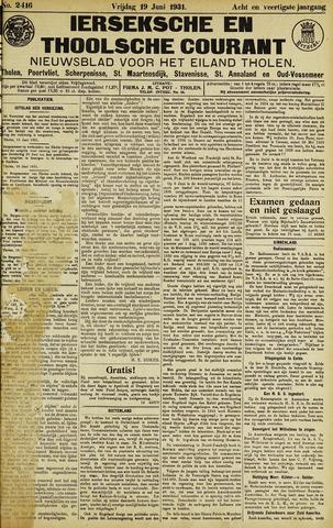 Ierseksche en Thoolsche Courant 1931-06-19