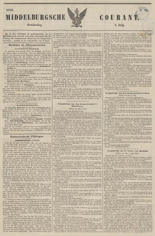 Middelburgsche Courant 1852-07-08