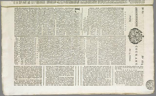 Zierikzeesche Courant 1814-10-14