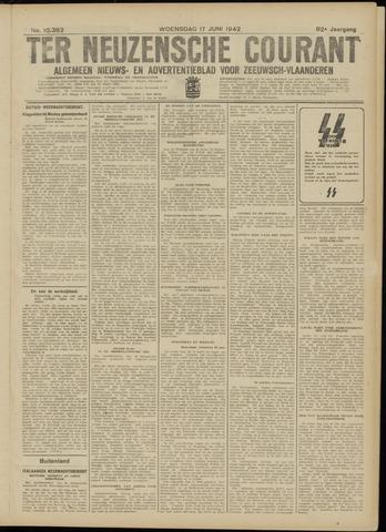Ter Neuzensche Courant. Algemeen Nieuws- en Advertentieblad voor Zeeuwsch-Vlaanderen / Neuzensche Courant ... (idem) / (Algemeen) nieuws en advertentieblad voor Zeeuwsch-Vlaanderen 1942-06-17