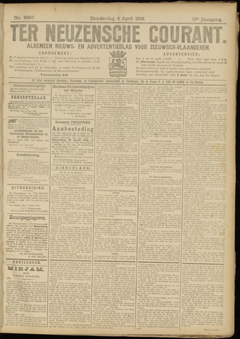 Ter Neuzensche Courant. Algemeen Nieuws- en Advertentieblad voor Zeeuwsch-Vlaanderen / Neuzensche Courant ... (idem) / (Algemeen) nieuws en advertentieblad voor Zeeuwsch-Vlaanderen 1918-04-02