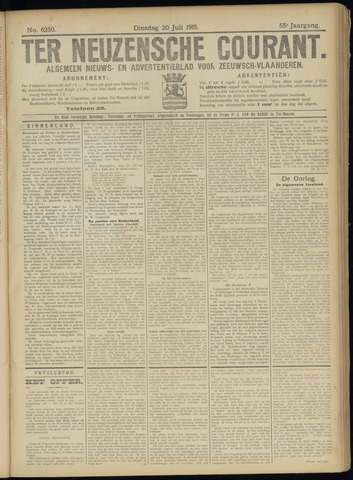 Ter Neuzensche Courant. Algemeen Nieuws- en Advertentieblad voor Zeeuwsch-Vlaanderen / Neuzensche Courant ... (idem) / (Algemeen) nieuws en advertentieblad voor Zeeuwsch-Vlaanderen 1915-07-20