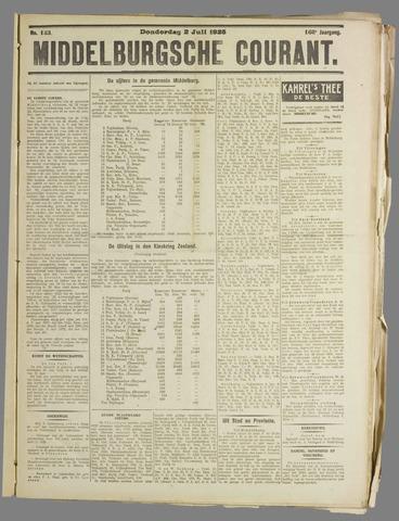 Middelburgsche Courant 1925-07-02