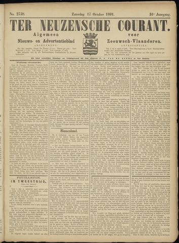 Ter Neuzensche Courant. Algemeen Nieuws- en Advertentieblad voor Zeeuwsch-Vlaanderen / Neuzensche Courant ... (idem) / (Algemeen) nieuws en advertentieblad voor Zeeuwsch-Vlaanderen 1891-10-17