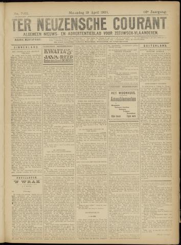 Ter Neuzensche Courant. Algemeen Nieuws- en Advertentieblad voor Zeeuwsch-Vlaanderen / Neuzensche Courant ... (idem) / (Algemeen) nieuws en advertentieblad voor Zeeuwsch-Vlaanderen 1926-04-19