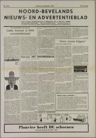 Noord-Bevelands Nieuws- en advertentieblad 1966-09-24