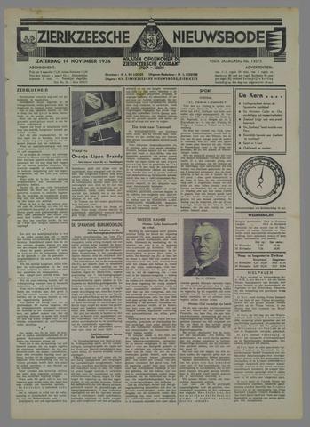 Zierikzeesche Nieuwsbode 1936-11-14