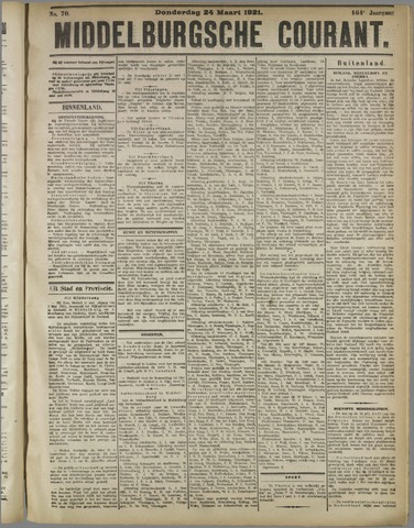 Middelburgsche Courant 1921-03-24