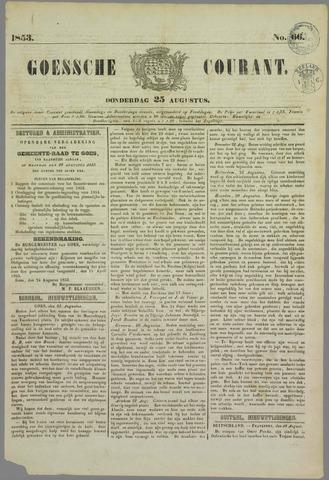 Goessche Courant 1853-08-25
