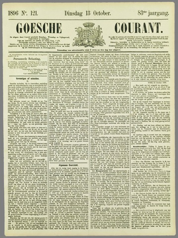 Goessche Courant 1896-10-13