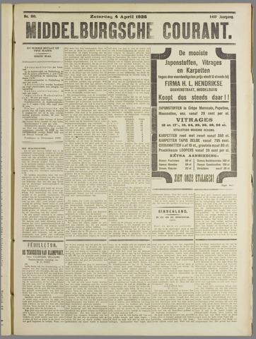 Middelburgsche Courant 1925-04-04