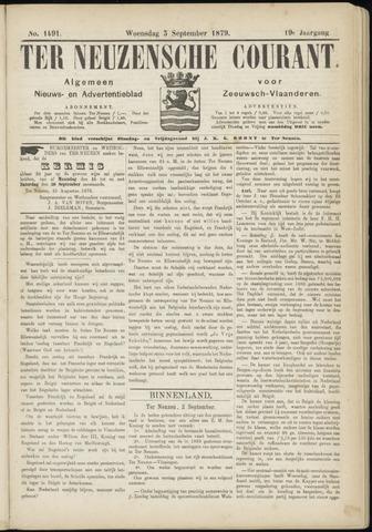 Ter Neuzensche Courant. Algemeen Nieuws- en Advertentieblad voor Zeeuwsch-Vlaanderen / Neuzensche Courant ... (idem) / (Algemeen) nieuws en advertentieblad voor Zeeuwsch-Vlaanderen 1879-09-03