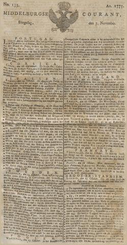 Middelburgsche Courant 1775-11-07