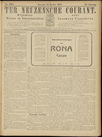 Ter Neuzensche Courant. Algemeen Nieuws- en Advertentieblad voor Zeeuwsch-Vlaanderen / Neuzensche Courant ... (idem) / (Algemeen) nieuws en advertentieblad voor Zeeuwsch-Vlaanderen 1912-10-12