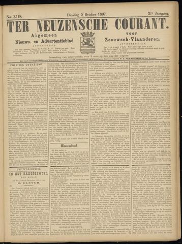 Ter Neuzensche Courant. Algemeen Nieuws- en Advertentieblad voor Zeeuwsch-Vlaanderen / Neuzensche Courant ... (idem) / (Algemeen) nieuws en advertentieblad voor Zeeuwsch-Vlaanderen 1897-10-05