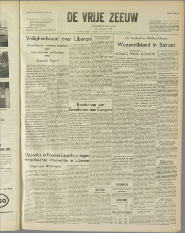 de Vrije Zeeuw 1958-07-17