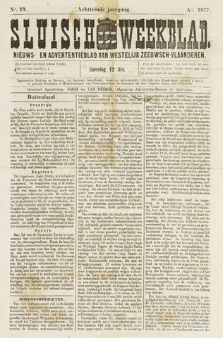 Sluisch Weekblad. Nieuws- en advertentieblad voor Westelijk Zeeuwsch-Vlaanderen 1877-05-11