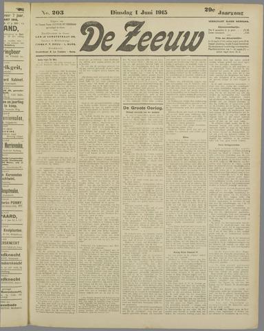 De Zeeuw. Christelijk-historisch nieuwsblad voor Zeeland 1915-06-01