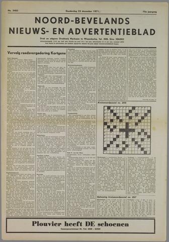 Noord-Bevelands Nieuws- en advertentieblad 1971-12-23