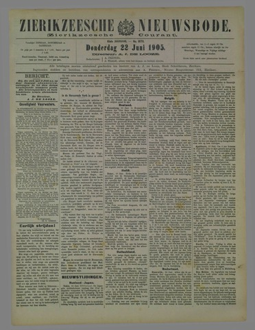 Zierikzeesche Nieuwsbode 1905-06-22