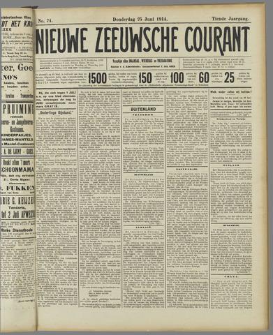 Nieuwe Zeeuwsche Courant 1914-06-25