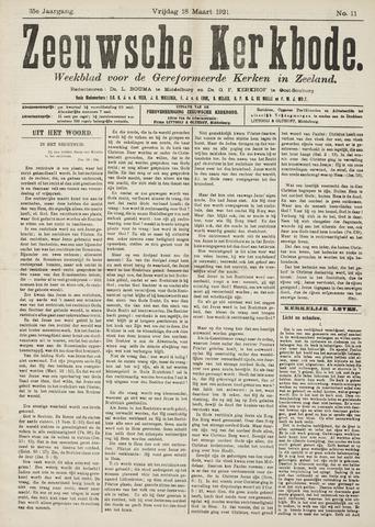 Zeeuwsche kerkbode, weekblad gewijd aan de belangen der gereformeerde kerken/ Zeeuwsch kerkblad 1921-03-18
